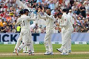 Wicket - Moeen Ali of England celebrates taking the wicket of Cameron Bancroft of Australia during the International Test Match 2019 match between England and Australia at Edgbaston, Birmingham, United Kingdom on 3 August 2019.