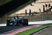 March 7-10, 2017: Circuit de Catalunya. Lewis Hamilton (GBR), Mercedes AMG Petronas Motorsport, F1 W08 running with aero rakes