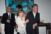 Neil Tennant; Amanda Levete; Ben Evans, DINNER TO CELEBRATE THE ARTISTS OF FRIEZE PROJECTS AND THE EMDASH AWARD 2012 hosted by ANDREA DIBELIUS founder EMDASH FOUNDATION, AMANDA SHARP and MATTHEW SLOTOVER founders FRIEZE. THE FORMER CENTRAL ST MARTIN'S SCHOOL OF ART AND DESIGN, SOUTHAMPTON ROW, LONDON WC1. 11 October 2012
