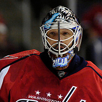 26 December 2007:  Washington Capitals goalie Olaf Kolzig (37) in action against the Tampa Bay Lightning in the first period at the Verizon Center in Washington, D.C.  The Capitals defeated the Lightning 3-2.