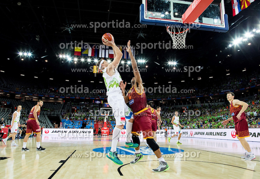 Miha Zupan of Slovenia during basketball match between Slovenia and Macedonia at Day 6 in Group C of FIBA Europe Eurobasket 2015, on September 10, 2015, in Arena Zagreb, Croatia. Photo by Vid Ponikvar / Sportida