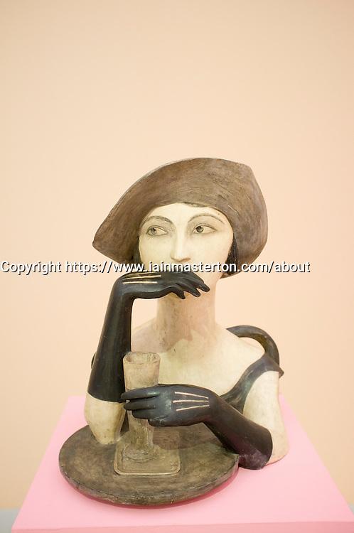 Sculpture Girl with Absinthe by Bedrich Stefan at Museum of Modern Art or Veletrzni Palace Prague in Czech Republic