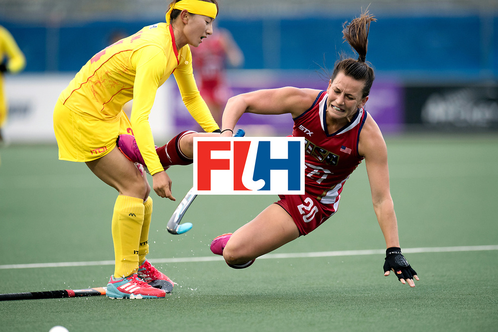 AUCKLAND - Sentinel Hockey World League final women<br /> Match id: 10309<br /> 19 USA v CHN (Losing Q/Finalists Match)<br /> Foto: Ali Froede diving<br /> WORLDSPORTPICS COPYRIGHT FRANK UIJLENBROEK