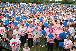 Crowd waiting to compete in 2006 Cancer Research UK Race for Life; Nottingham,