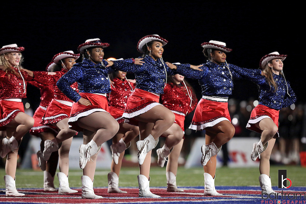 The Bishop Dunne drill team performs during halftime at the TAPPS Division I state championship game on Saturday, Dec. 3, 2016 at Panther Stadium in Hewitt, Texas. Bishop Lynch High School won 21-17. (Photo by Kevin Bartram)