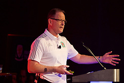 NEWPORT, WALES - Sunday, May 28, 2017: Steve Dalton OBE, Managing Director of Sony UK, speaks about Change Management vduring day three of the Football Association of Wales' National Coaches Conference 2017 at the Celtic Manor Resort. (Pic by David Rawcliffe/Propaganda)