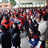 Zinacantepec, México (Noviembre 09, 2016).- Aspectos de la inauguración de la 49 Convención Nacional de Cruz Roja Mexicana. Agencia MVT / José Hernández.