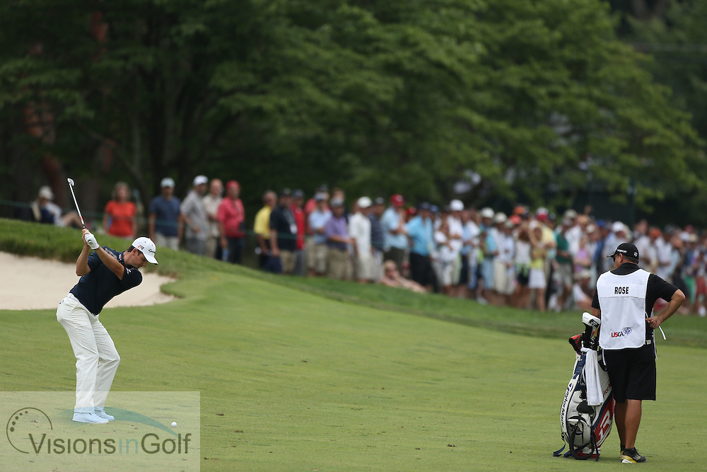 Justin Rose <br /> on the final day at the US Open Championship, Merion East, PA. USA 2013 <br /> Picture Credit:  Mark Newcombe / visionsingolf.com