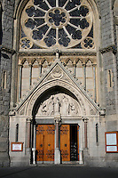 Entrance to St Josephs catholic church in Glasthule Dublin Ireland