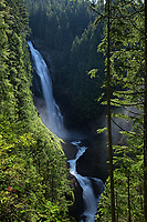 The middle falls of Wallace Falls in Wallace Falls State Park, Washington, USA