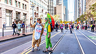 San Francisco, California, USA. 8th September, 2018. Thousands gather in San Francisco in Rise for Climate rally and march in advance of the Global Climate Action Summit to be held there September 12 to 14. Credit: Shelly Rivoli