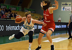 Annmaria Prezelj dribbles during friendly basketball match between Women teams of Slovenia and Czech Republic before EuroBasket Serbia 2019, on May 31st, 2019 in Arena Tri Lilije, Lasko, Slovenia. Photo by Milos Vujinovic / Sportida