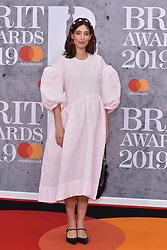 February 20, 2019 - London, United Kingdom of Great Britain and Northern Ireland - Laura Jackson arriving at The BRIT Awards 2019 at The O2 Arena on February 20, 2019 in London, England  (Credit Image: © Famous/Ace Pictures via ZUMA Press)