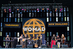 Mahinarangi Tocker performs at WOMAD Taranaki, on Saturday 12 March 2005.  Her band consist of Shona Laing, James Wilkinson, David Downes, Anahera Higgins, Denny Stanway and Jimmy Young.