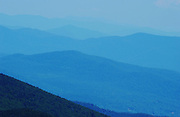 Looking north along the Green Mountains of Vermont from Killington Mountain, the Long Trail and the Appalachian Trail.....