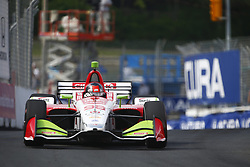 July 14, 2018 - Toronto, Ontario, Canada - MARCO ANDRETTI (98) of the United States takes to the track to practice for the Honda Indy Toronto at Streets of Toronto in Toronto, Ontario. (Credit Image: © Justin R. Noe Asp Inc/ASP via ZUMA Wire)