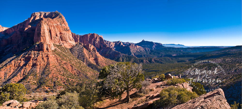 Panorama of Kolob Canyon, Zion National Park, Utah, USA