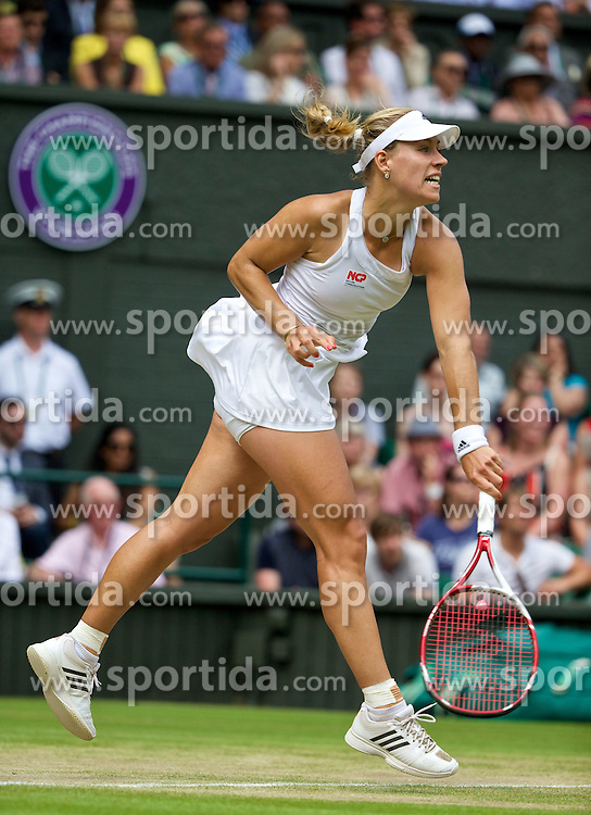 01.07.2014, All England Lawn Tennis Club, London, ENG, WTA Tour, Wimbledon, im Bild Angelique Kerber (GER) during the Ladies' Singles 4th Round match on day eight // during the Wimbledon Championships at the All England Lawn Tennis Club in London, Great Britain on 2014/07/01. EXPA Pictures &copy; 2014, PhotoCredit: EXPA/ Propagandaphoto/ David Rawcliffe<br /> <br /> *****ATTENTION - OUT of ENG, GBR*****