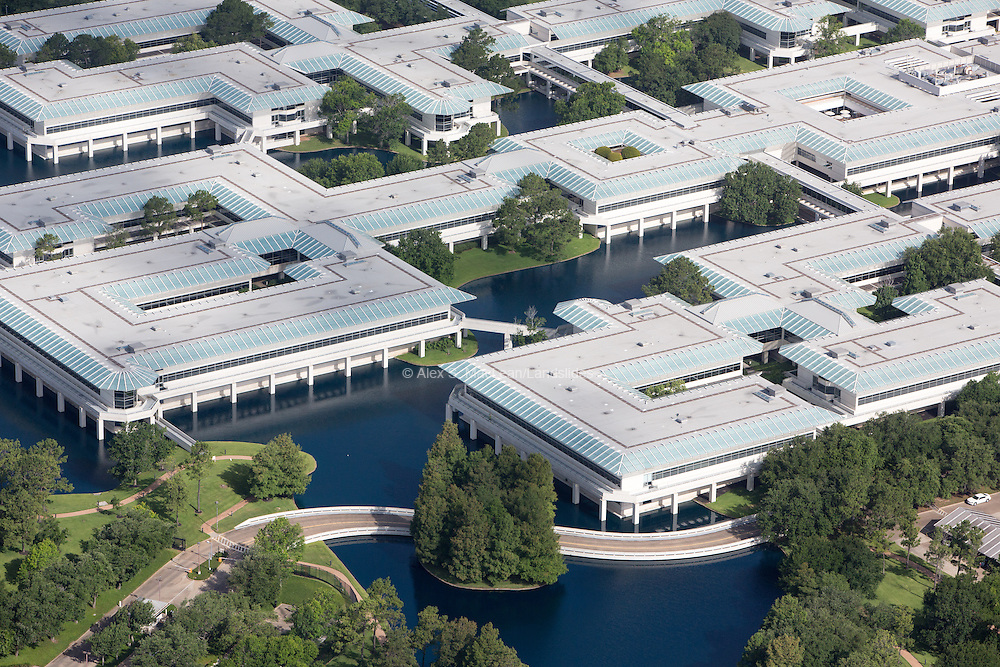 ConocoPhillips Headquarters with artificial retention ponds