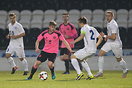 Scotland's James Jones take son Estonia's Morten Kuusk - Scotland under 21s v Estonia international challenge match at St Mirren Park, St Mirren. Pic David Young<br />  <br /> - &copy; David Young - www.davidyoungphoto.co.uk - email: davidyoungphoto@gmail.com