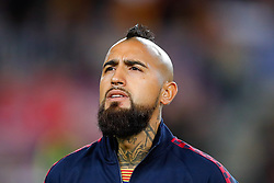 November 5, 2019, Barcelona, Catalonia, Spain: November 5, 2019 - Barcelona, Spain - Uefa Champions League Stage Group, FC Barcelona v Slavia Praga: Arturo Vidal of FC Barcelona before start the game. (Credit Image: © Eric Alonso/ZUMA Wire)