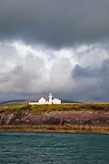 Lighthouse built in 1887, Dingle Bay and coastline, Ireland