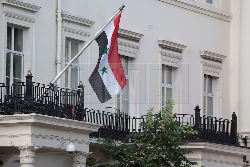 © licensed to London News Pictures. London, UK 30/07/2012. The Syrian Emabssy in London pictured as the Syrian chargé d'affaires in London, Khaled Al-Ayoubi, has resigned on 30/07/12. Al-Ayoubi was the most senior Syrian diplomat serving in London. Photo credit: Tolga Akmen/LNP