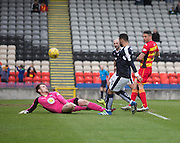 Partick Thistle&rsquo;s Ryan Scully pulls off a great save to deny Dundee&rsquo;s Kane Hemmings - Partick Thistle v Dundee, Ladbrokes Premiership at Firhill<br /> <br /> <br />  - &copy; David Young - www.davidyoungphoto.co.uk - email: davidyoungphoto@gmail.com