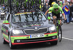 July 2, 2017 - Liege, Belgique - LIEGE, BELGIUM - JULY 2 : PHINNEY Taylor (USA) Rider of Cannondale - Drapac team during stage 2 of the 104th edition of the 2017 Tour de France cycling race, a  stage of 203 kms between Dusseldorf and Liege on July 02, 2017 in Liege, Belgium, 2/07/2017 (Credit Image: © Panoramic via ZUMA Press)
