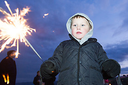 Children enjoying bonfire night