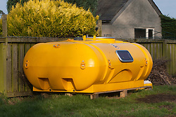 Nick Hancock inside his survival pod. He will head for Rockall in the Atlantic, and the adventurer is planning to spend two months on Britain's most remote outpost, and he is building his survival pod in his back garden. Pic of pod..© Michael Schofield..