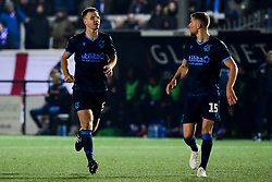 Tony Craig of Bristol Rovers and Alfie Kilgour of Bristol Rovers - Mandatory by-line: Ryan Hiscott/JMP - 19/11/2019 - FOOTBALL - Hayes Lane - Bromley, England - Bromley v Bristol Rovers - Emirates FA Cup first round replay