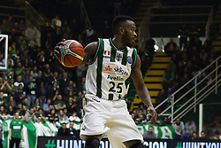 November 8, 2017 - Avellino, Campania, Italy - Janos Rich of Sidigas Avellino during third day of Champions League match between Sidigas Avellino v Cez Nymburk at Palasport Giacomo Del Mauro, Avellino, Italy November on 8, 2017. Avellino won 80-63. (Credit Image: © Paolo Manzo/NurPhoto via ZUMA Press)