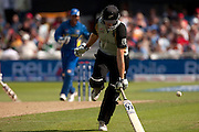 Kyle Mills is run out to knock New Zealand out of the ICC World Twenty20 Cup during the match against Sri Lanka at Trent Bridge. Photo © Graham Morris (Tel: +44(0)20 8969 4192 Email: sales@cricketpix.com)