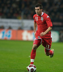 FRANKFURT, GERMANY - Wednesday, November 21, 2007: Wales' Joseph Ledley in action against Germany during the final UEFA Euro 2008 Qualifying Group D match at the Commerzbank Arena. (Pic by David Rawcliffe/Propaganda)