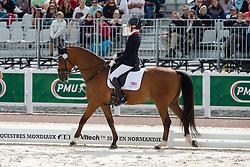 Sophie Christiansen, (GBR), Janeiro 6 - Freestyle Grade Ia Para Dressage - Alltech FEI World Equestrian Games™ 2014 - Normandy, France.<br /> © Hippo Foto Team - Leanjo de Koster<br /> 25/06/14