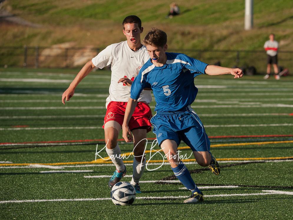 Varsity Soccer Laconia versus Interlakes.  Karen Bobotas/ for the Laconia Daily Sun