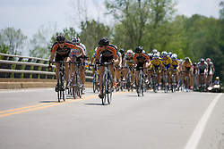 The field is now closing in on the break away... Stage 7, the final stage of the Tour of Virginia, started and finished just off of Charlottesville's historic downtown mall on April 29, 2007.  The stage took country roads through Albemarle and Buckingham Counties, passing through the University of Virginia, the town of Scottsville, and Thomas Jefferson's Monticello before finishing in a series of circuits around downtown Charlottesville, VA.