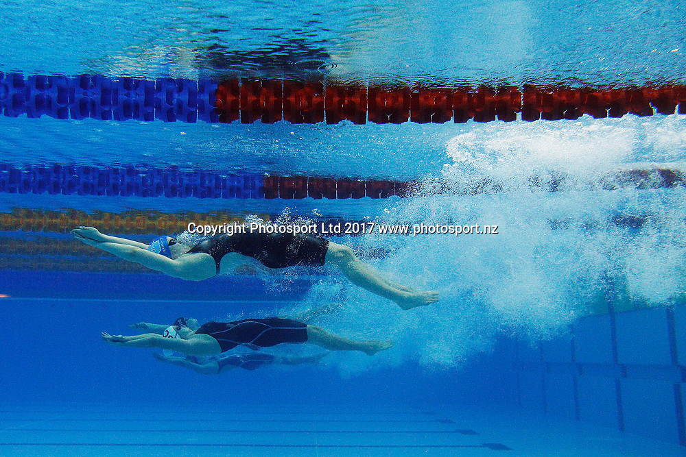 General View womens 200m backstroke, 2017 New Zealand Open Swimming Championships, Day 1. Sir Owen Glenn National Aquatic Centre, Millennium Institute, Albany, Auckland. 3 April 2017. Copyright Image: William Booth / www.photosport.nz