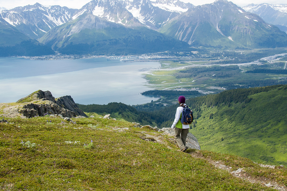 An adventurous hike overlooking Seward.