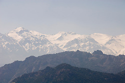Chile: View of Andes East of Santiago, near Maipo Valley..Photo #: ch492-32965..Photo copyright Lee Foster, 510-549-2202, www.fostertravel.com, lee@fostertravel.com.