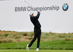 September 10, 2018 - Newtown Square, Pennsylvania, United States - Aaron Wise tees off the 17th hole during the final round of the 2018 BMW Championship. (Credit Image: © Debby Wong/ZUMA Wire)