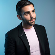 December 14, 2016 - New York, NY : Phillip Picardi, Digital Editorial Director at Teen Vogue, poses for a portrait in Condé Nast's Teen Vogue offices in One World Trade in Manhattan on Wednesday afternoon. CREDIT: Karsten Moran for The New York Times