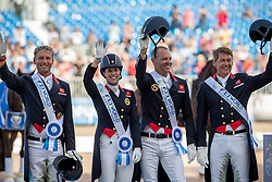 Team Great Britain, Dujardin Charlotte, Hester Carl, Wilton Spencer, Faurie Emilie<br /> World Equestrian Games - Tryon 2018<br /> © Hippo Foto - Dirk Caremans<br /> 13/09/2018