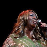 Aretha Franklin performs at the 25th annual Thelonious Monk International Jazz Competition and ?Women, Music and Diplomacy? All-Star Gala Concert at the Kennedy Center in Washington, DC, presented by the world-renowned Thelonious Monk Institute of Jazz.<br /> <br /> Through the competition and its numerous educational programs, the Institute is committed to identifying and training the world's leading young jazz musicians who will preserve the traditions of jazz while expanding the music in new directions.