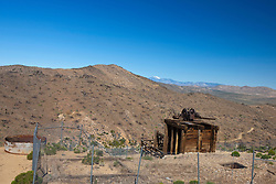 General view of the mill structure at, Lost Horse Mine, Joshua Tree National Park, California, United States of America