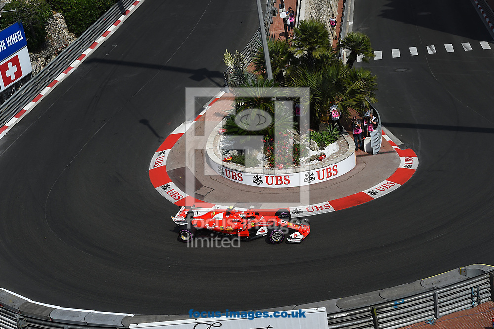 Kimi Raikkonen of Scuderia Ferrari during the practice session for the 2017 Monaco Formula One Grand Prix at the Circuit de Monaco, Monte Carlo<br /> Picture by EXPA Pictures/Focus Images Ltd 07814482222<br /> 25/05/2017<br /> *** UK &amp; IRELAND ONLY ***<br /> <br /> EXPA-EIB-170525-0149.jpg
