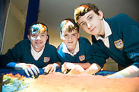 11/11/2015 Repro free:   More than 300 students visited the Marine Institute for Galway Science &amp; Technology Festival and the Sea for Society project. At the event were <br /> pupils from Colaiste na Coirbe  Harry Donnellan, James Gavin and Eoghan Brophy. Photo:Andrew Downes, xposure.