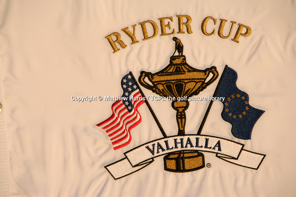 Valhalla during autumn 2007. Venue for the 2008 Ryder Cup Matches between USA and Europe to be staged in September.<br /> Shown here the Valhalla Ryder Cup flag.