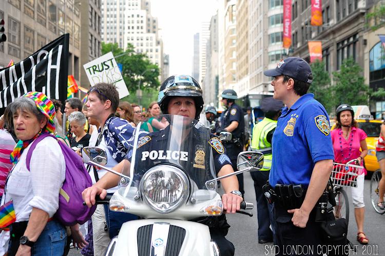 Annual NYC Dyke March. 5th Avenue, NYC.<br /> 6.25.2011